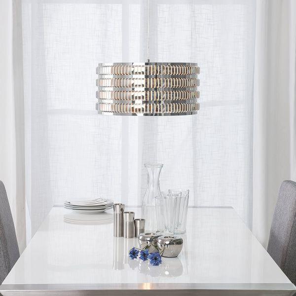 Amus Metal Pendant Lamp - Silver