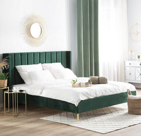 Vilate Fabric Velvet Bed - Kingsize