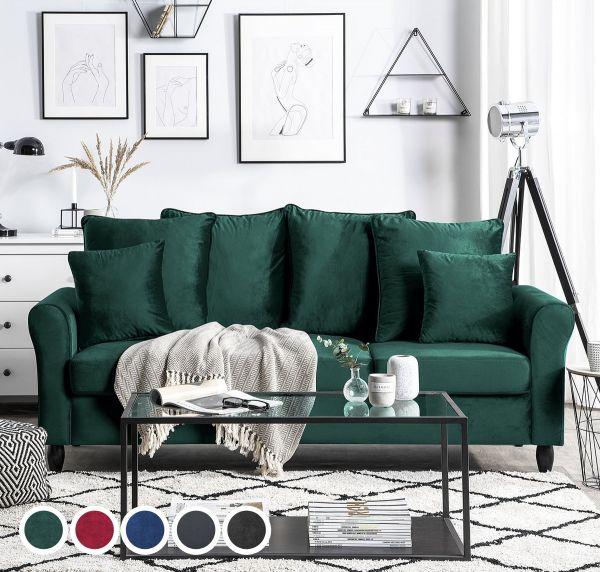 Borhol Velvet Sofa with 3 Seater - 5 Colours