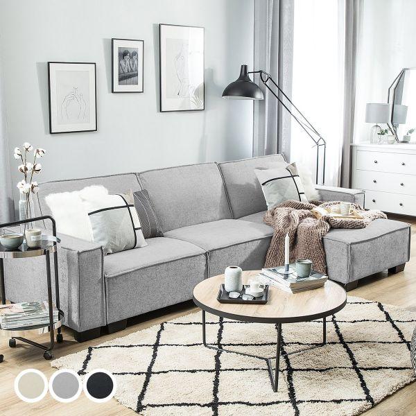 Rodal Fabric Corner Sofa Bed - 3 Colours
