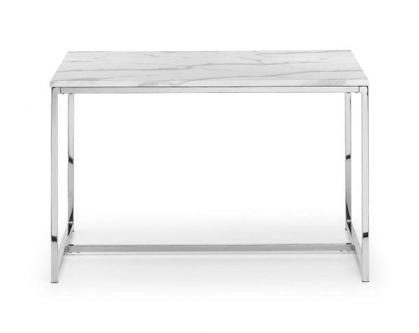 Julian Bowen Scala Dining Table - White Marble