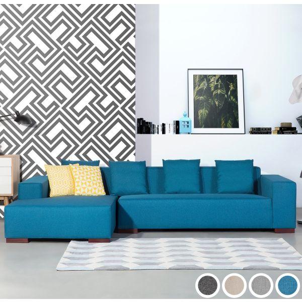 Lundo Fabric Corner Sofa - 4 Colours