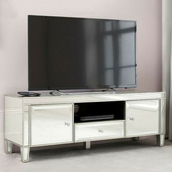 Modern Design Mirrored TV Stand