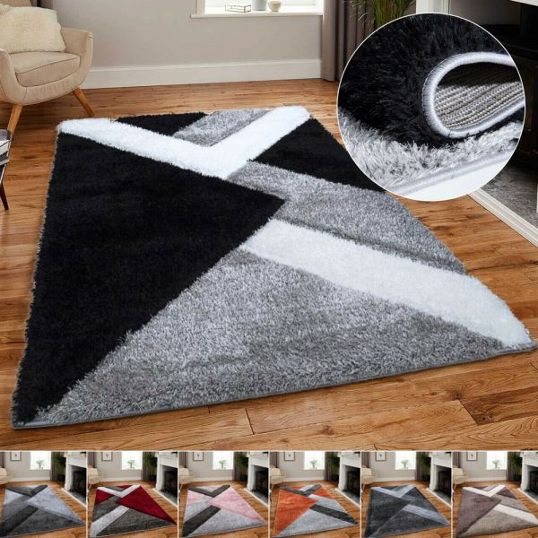 Shaggy Sparkle Soft Pile Shimmer Glitter Rugs 11 Colours- 5 Sizes
