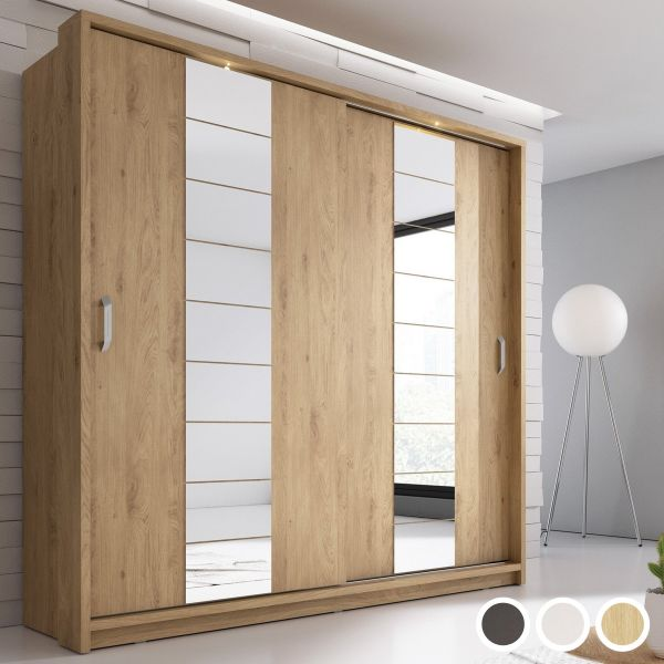Artisan XIV 2-Door Sliding Wardrobe 220cm - White, Black or Oak