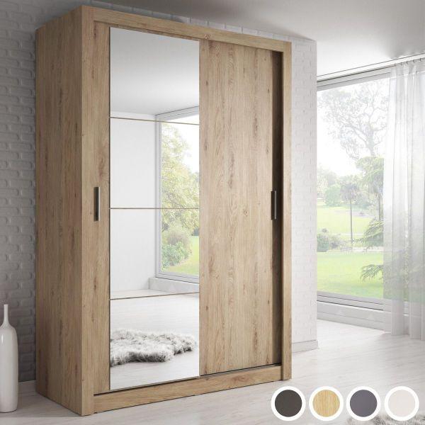 Artisan VI 2-Door Sliding Wardrobe 120cm - Black, White, Grey or Oak