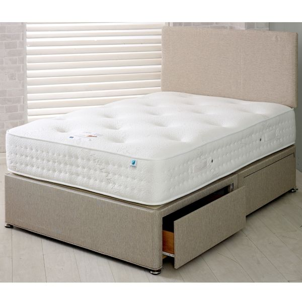 Vogue Warwick Pocket Sprung Divan Bed 4FT6 Double - 1000, 1500 or 2000 Pocket