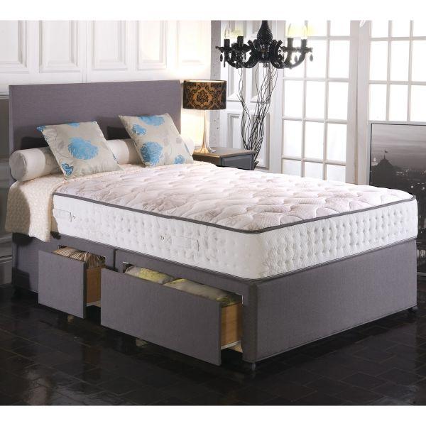 Vogue Empress BluCool Memory Foam Ottoman Divan Bed 4FT6 Double - 1500 or 2000 Pocket