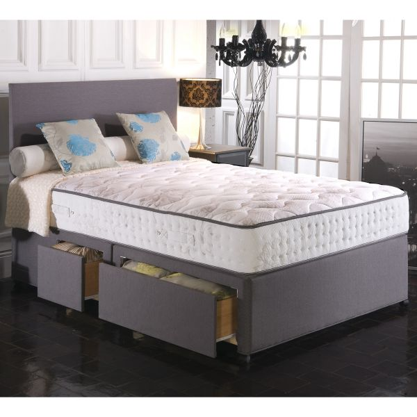 Vogue Empress BluCool Memory Foam Ottoman Divan Bed 5FT King - 1500 or 2000 Pocket