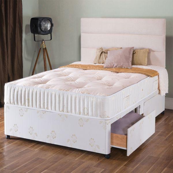 Vogue Gold Summer & Winter 1000 Pocket Sprung Divan Bed 5FT King