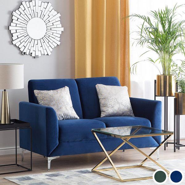 Fenis Velvet Sofa with 2 Seater - Blue or Green
