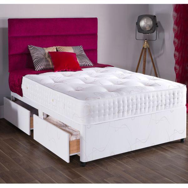 Vogue Diamond Summer & Winter Sprung Divan Bed 4FT6 Double - 1500 or 2000 Pocket