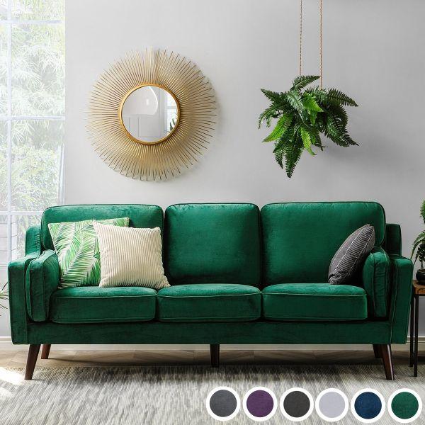 Loko Velvet Sofa with 3 Seater - 6 Colours