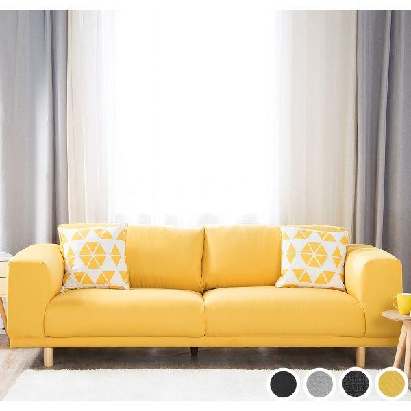 Rivala Fabric Sofa with 3 Seater - 4 Colours