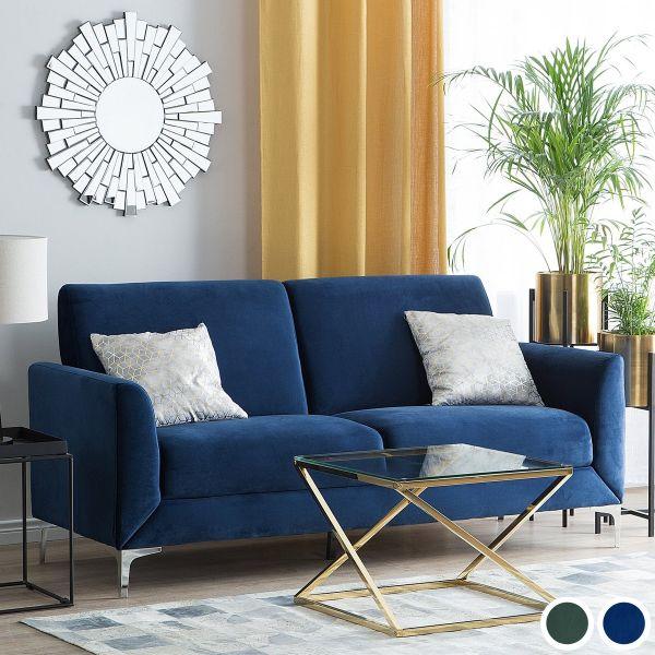 Fenis Velvet Sofa with 3 Seater - Blue or Green