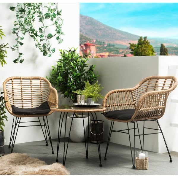 Tropic 3PC Rattan Bistro Set