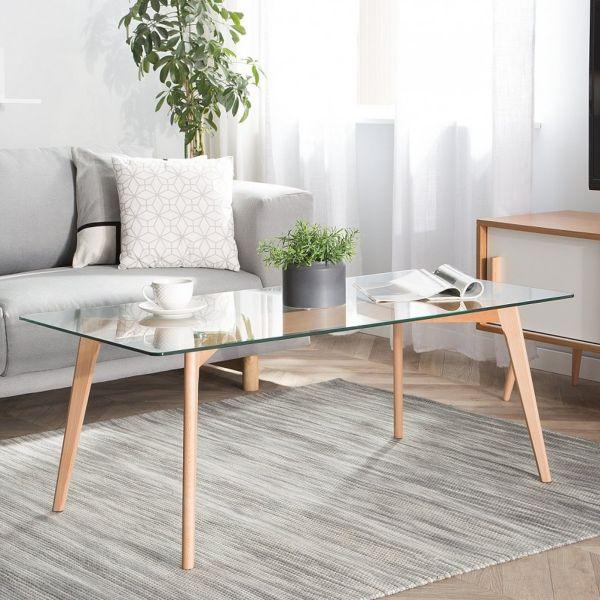 Hudds Glass Top Coffee Table