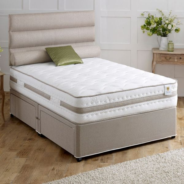 Vogue Bliss Ottoman Airstream Sprung Divan Bed 5FT King - 1500 or 2000 Pocket