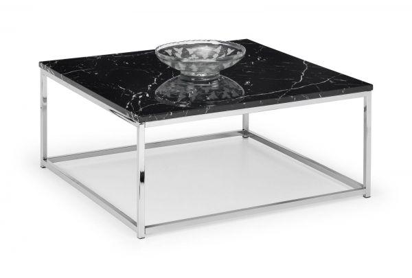 Julian Bowen Scala Black Marble Square Coffee Table