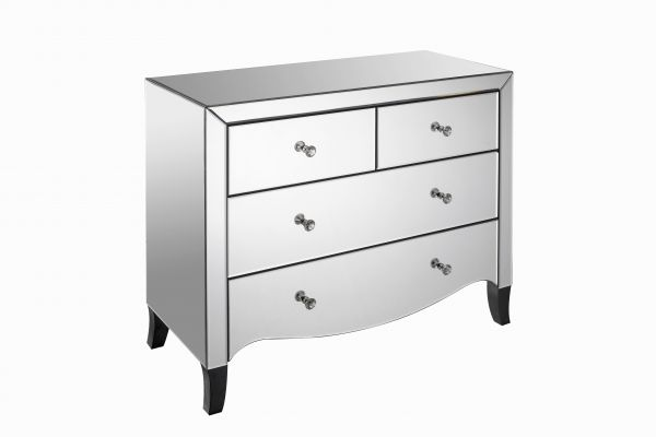 LPD Valentina 2+2 Drawer Mirrored Storage Chest