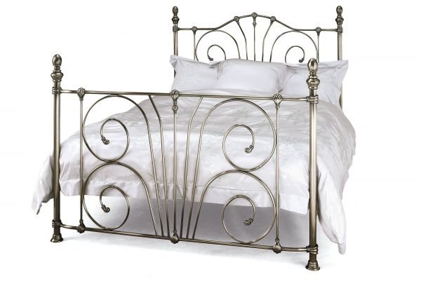 Jessica Antique Metal Bed - 4 Sizes - Brass or Nickel