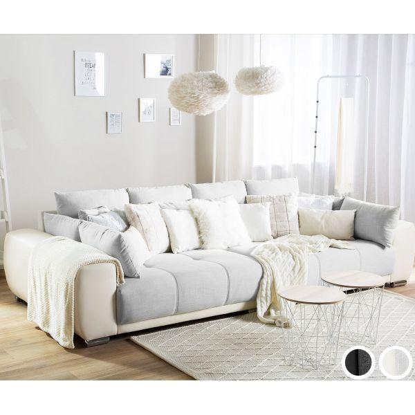Tapas Large Fabric Sofa - Black or Beige