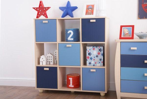 Sydney 3x3 Cube Storage Shelf Unit - Blue or Pink