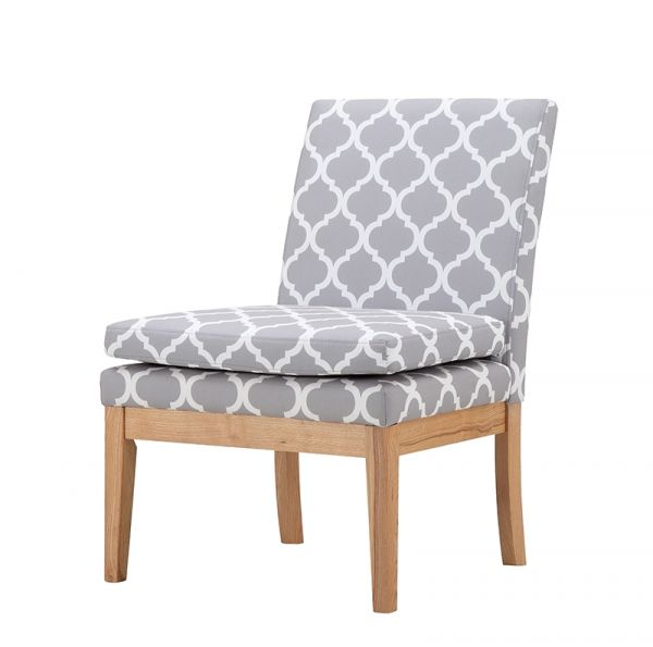 LPD Victor Occasional Fabric Chair - Grey