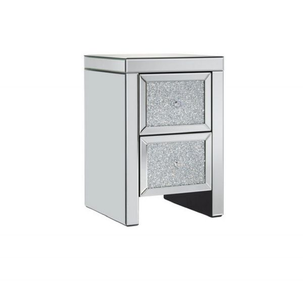 Vienna 2-Drawer Crystal Bedside Table