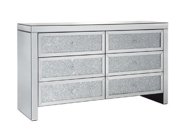 Vienna 6-Drawer Crystal Wide Storage Chest