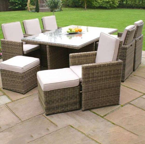 Winchester 8 Seater Garden Rattan Furniture Set