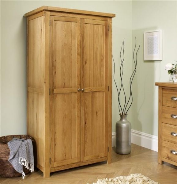 Birlea Woburn Solid Oak 2 Door Wardrobe