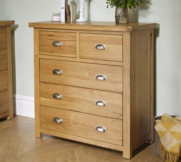 Birlea Woburn 3+2 Drawer Oak Storage Chest