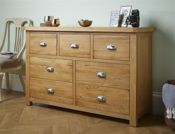 Birlea Woburn 4+3 Drawer Oak Storage Chest