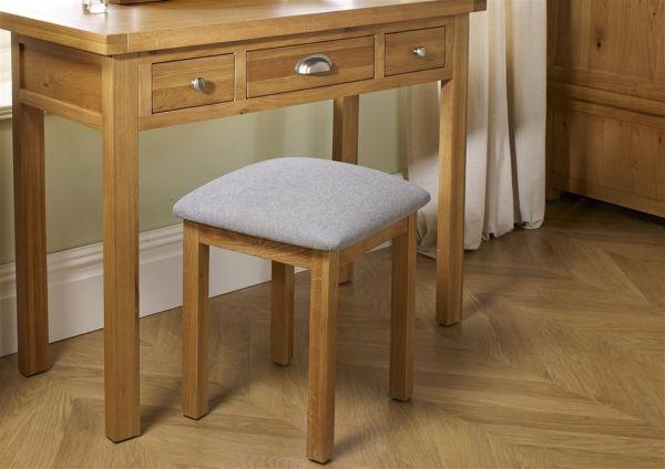 Birlea Woburn Oak Upholstered Stool
