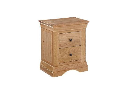LPD Worthing 2 Drawer Bedside Cabinet - Oak