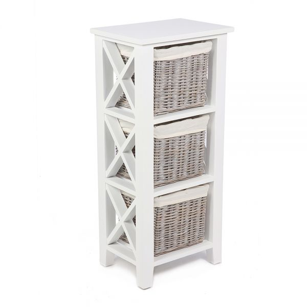 Avira 3 Basket Vertical X Cabinet - Matt White