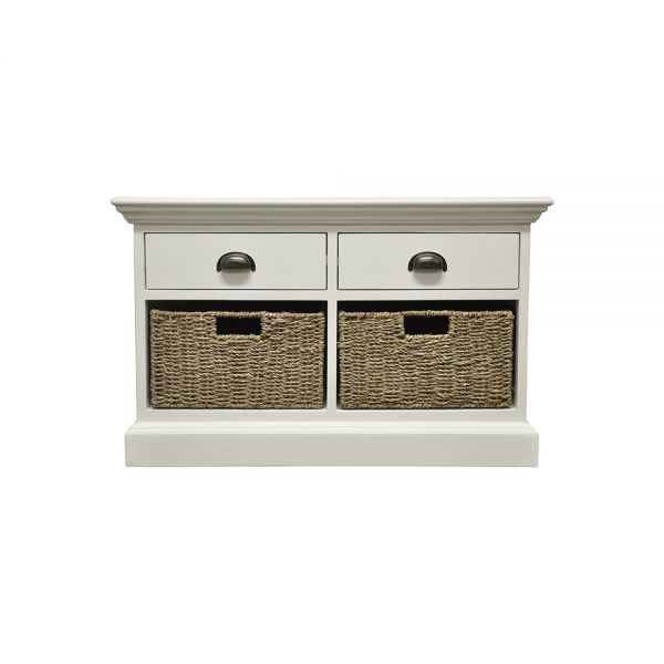 Avast 2 Drawer 2 Basket Chest of Drawer - Antique White