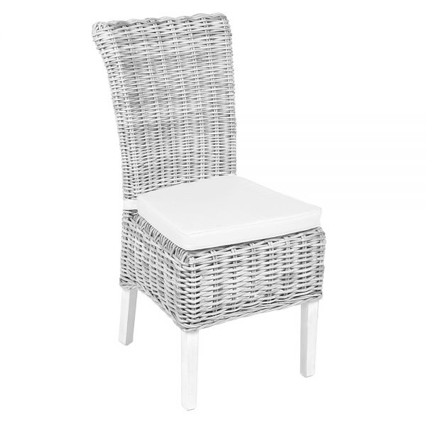 Avast Wicker Chair Including Cushion - White Wash