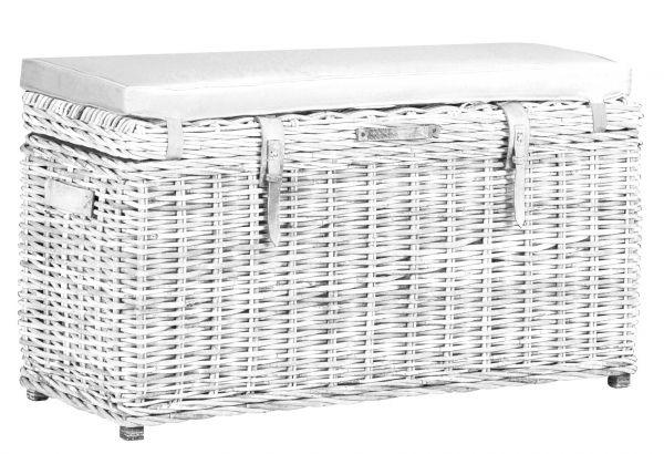 Avira Rectangular Trunk Bench - White Wash