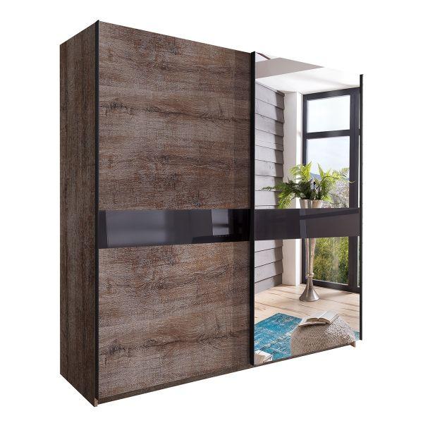 Weimmar Mirrored Sliding Wardrobe - Muddy Oak