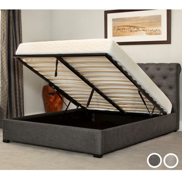 Balmoral Fabric Ottoman Bed Frame - Double, King or Super King