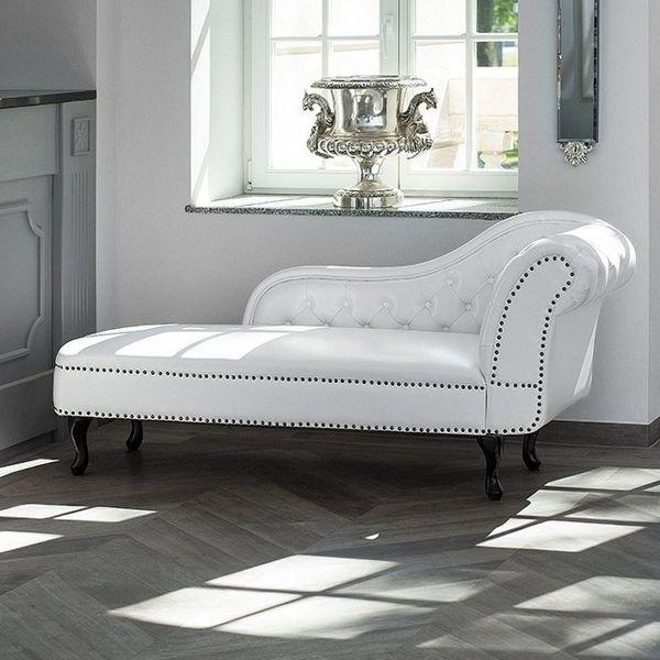 Nimez Faux Leather Chaise Longue - Black or White