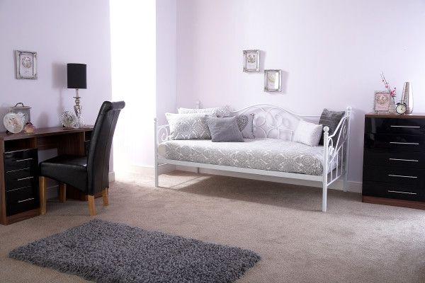 Madison Metal Day Bed Frame - White