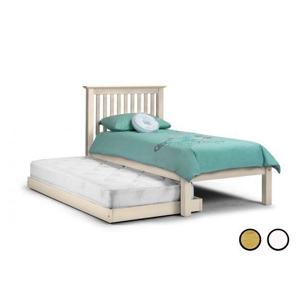 Julian Bowen Barcelona Pine or White Hideaway Single Guest Bed