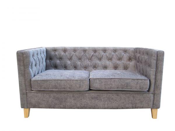 LPD York 2-Seat Fabric Sofa - Mink or Grey