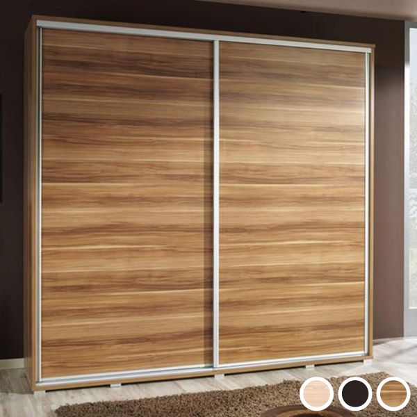 Prudence-II 2-Door Sliding Wardrobe - Wenge, Oak or Plum Wallis