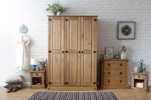 Inca 4PC Bedroom Furniture Set - Pine