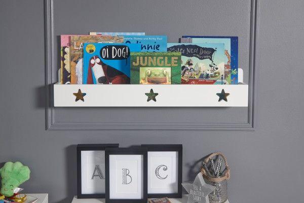 Star Wall Bookshelf Ledge - White