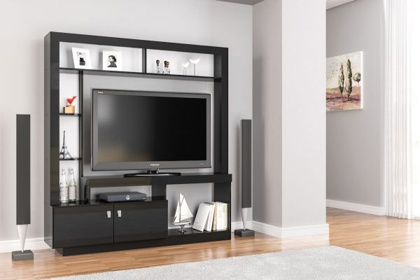 Birlea Zuma Black or Walnut Entertainment Unit
